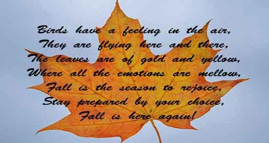 شعر در مورد پاییز