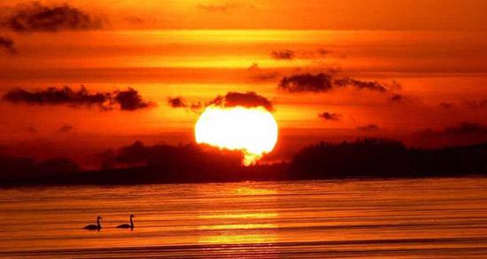 شعر در مورد غروب دریا ، فروغ و حافظ و دوبیتی غروب آفتاب کنار دریا