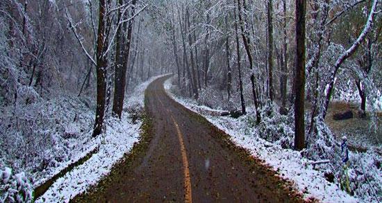 متن در مورد جاده برفی ، متن برفی عاشقانه با موضوع برف پاییزی و زمستان