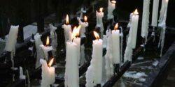 پروفایل مشکی برای فوت ، عکس شمع تسلیت برای پروفایل
